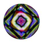 Rippled Geometry  Ornament (Round)