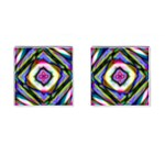 Rippled Geometry  Cufflinks (Square)