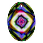 Rippled Geometry  Oval Ornament (Two Sides)