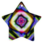 Rippled Geometry  Star Ornament (Two Sides)
