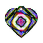 Rippled Geometry  Dog Tag Heart (One Side)