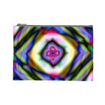 Rippled Geometry  Cosmetic Bag (Large)