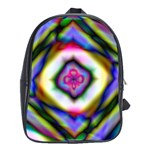 Rippled Geometry  School Bag (Large)