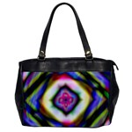Rippled Geometry  Oversize Office Handbag