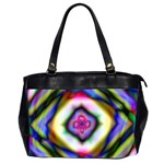 Rippled Geometry  Oversize Office Handbag (2 Sides)