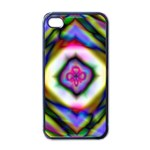 Rippled Geometry  Apple iPhone 4 Case (Black)