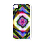Rippled Geometry  Apple iPhone 4 Case (White)