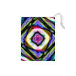 Rippled Geometry  Drawstring Pouch (Small)
