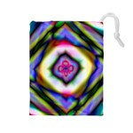 Rippled Geometry  Drawstring Pouch (Large)