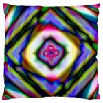 Rippled Geometry  Large Flano Cushion Case (Two Sides)