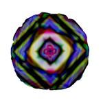 Rippled Geometry  Standard 15  Premium Flano Round Cushion