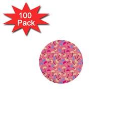 Umbrella Seamless Pattern Pink 1  Mini Buttons (100 Pack)  by Simbadda