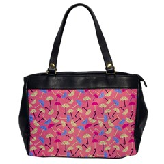 Umbrella Seamless Pattern Pink Office Handbags by Simbadda