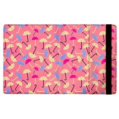 Umbrella Seamless Pattern Pink Apple Ipad 3/4 Flip Case by Simbadda