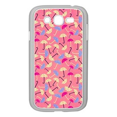 Umbrella Seamless Pattern Pink Samsung Galaxy Grand DUOS I9082 Case (White) by Simbadda