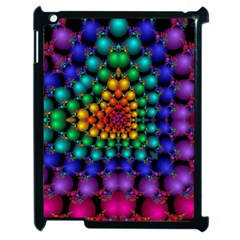 Mirror Fractal Balls On Black Background Apple Ipad 2 Case (black) by Simbadda