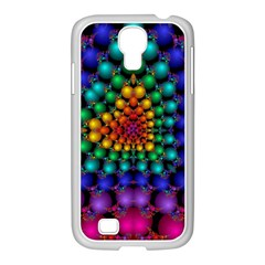 Mirror Fractal Balls On Black Background Samsung Galaxy S4 I9500/ I9505 Case (white) by Simbadda
