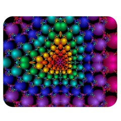 Mirror Fractal Balls On Black Background Double Sided Flano Blanket (medium)  by Simbadda