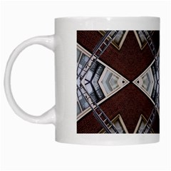 Ladder Against Wall Abstract Alternative Version White Mugs by Simbadda