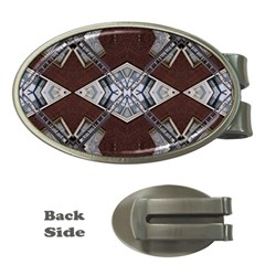 Ladder Against Wall Abstract Alternative Version Money Clips (oval)  by Simbadda