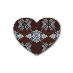 Ladder Against Wall Abstract Alternative Version Rubber Coaster (heart)  by Simbadda