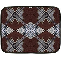 Ladder Against Wall Abstract Alternative Version Double Sided Fleece Blanket (mini)  by Simbadda