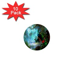 Beautiful Peacock Colorful 1  Mini Buttons (10 pack)  by Simbadda
