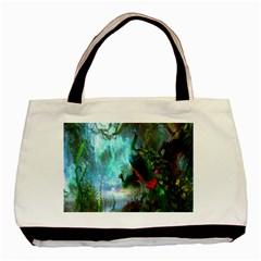 Beautiful Peacock Colorful Basic Tote Bag by Simbadda
