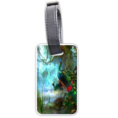 Beautiful Peacock Colorful Luggage Tags (one Side)  by Simbadda