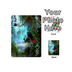 Beautiful Peacock Colorful Playing Cards 54 (mini)  by Simbadda
