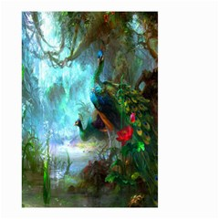 Beautiful Peacock Colorful Small Garden Flag (two Sides) by Simbadda