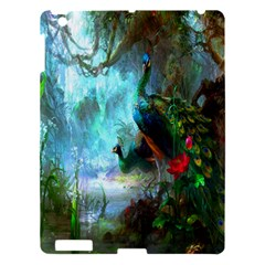 Beautiful Peacock Colorful Apple Ipad 3/4 Hardshell Case by Simbadda