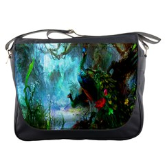 Beautiful Peacock Colorful Messenger Bags by Simbadda