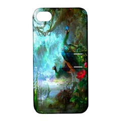 Beautiful Peacock Colorful Apple Iphone 4/4s Hardshell Case With Stand by Simbadda