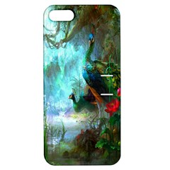 Beautiful Peacock Colorful Apple Iphone 5 Hardshell Case With Stand by Simbadda