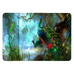 Beautiful Peacock Colorful Samsung Galaxy Tab 8 9  P7300 Flip Case by Simbadda