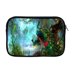 Beautiful Peacock Colorful Apple Macbook Pro 17  Zipper Case by Simbadda