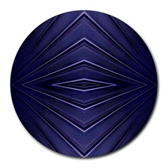Blue Metal Abstract Alternative Version Round Mousepads by Simbadda