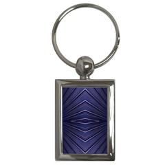 Blue Metal Abstract Alternative Version Key Chains (rectangle)  by Simbadda