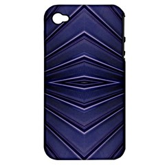 Blue Metal Abstract Alternative Version Apple Iphone 4/4s Hardshell Case (pc+silicone) by Simbadda