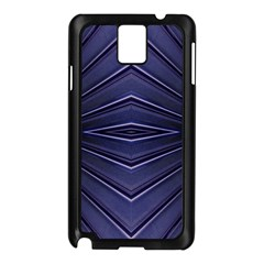 Blue Metal Abstract Alternative Version Samsung Galaxy Note 3 N9005 Case (black) by Simbadda