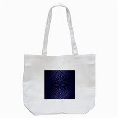Blue Metal Abstract Alternative Version Tote Bag (white) by Simbadda
