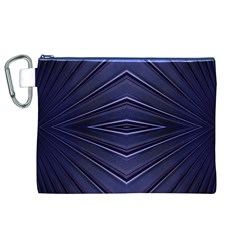 Blue Metal Abstract Alternative Version Canvas Cosmetic Bag (xl) by Simbadda