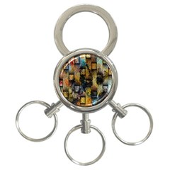 Fabric Weave 3 Ring Key Chains by Simbadda