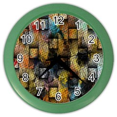 Fabric Weave Color Wall Clocks by Simbadda