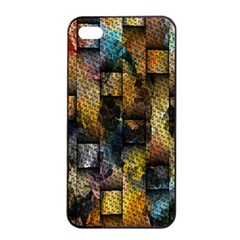 Fabric Weave Apple Iphone 4/4s Seamless Case (black) by Simbadda