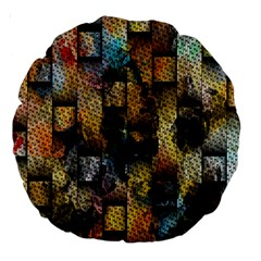 Fabric Weave Large 18  Premium Round Cushions by Simbadda