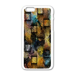 Fabric Weave Apple Iphone 6/6s White Enamel Case by Simbadda