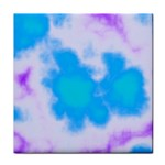 Blue And Purple Clouds Tile Coaster
