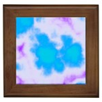 Blue And Purple Clouds Framed Tile